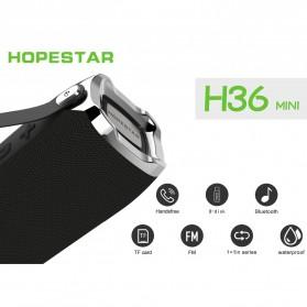 HOPESTAR Wireless Bluetooth Speaker Waterproof - H36 - Black - 3
