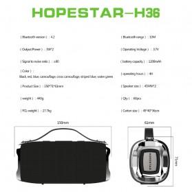 HOPESTAR Wireless Bluetooth Speaker Waterproof - H36 - Black - 7