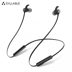 SYLLABLE Earphone Bluetooth Sport Bass dengan Microphone - 3DX - Black