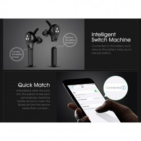SYLLABLE Airpods Earphone Bluetooth dengan Charging Case - D9X - Black - 7