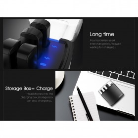 SYLLABLE Airpods Earphone Bluetooth dengan Charging Case - D9X - Black - 8
