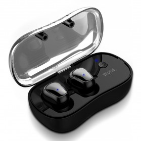 SYLLABLE Airpods Earphone Bluetooth dengan Charging Case - D900P - Black - 3