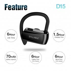 SYLLABLE Wireless Sport Bluetooth Earphone Super Bass - D15 - Black - 2