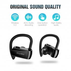 SYLLABLE Wireless Sport Bluetooth Earphone Super Bass - D15 - Black - 4