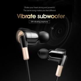 Salar Super Bass Earphone dengan Mic - S990 - Black Gold - 4