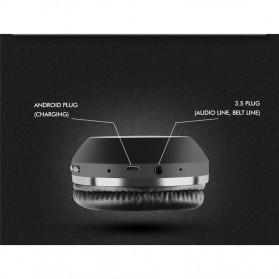 Salar Wireless Stereo Bluetooth Headphone with Mic - S11 - Black - 2