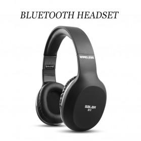 Salar Wireless Stereo Bluetooth Headphone with Mic - S11 - Black - 6