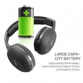 Salar Wireless Stereo Bluetooth Headphone with Mic - S11 - Black - 8