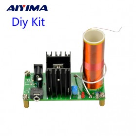 Aiyima DIY Mini Music Tesla Coil Plasma Speaker Kit 15W 15-24V - Green