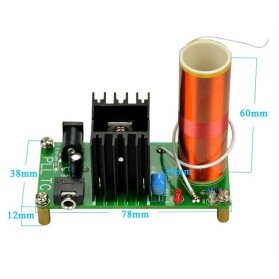 Aiyima DIY Mini Music Tesla Coil Plasma Speaker Kit 15W 15-24V - Green - 6