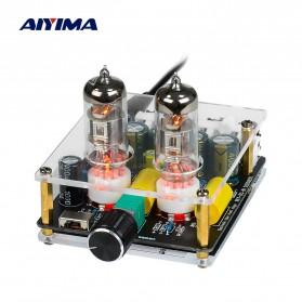 Aiyima Preamplifier Mini HiFi Stereo Preamp 2x6J3 Tubes - B2D2445 - Black