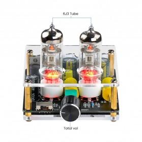 Aiyima Preamplifier Mini HiFi Stereo Preamp 2x6J3 Tubes - B2D2445 - Black - 2