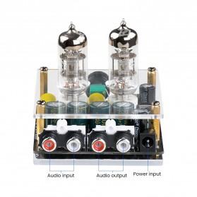Aiyima Preamplifier Mini HiFi Stereo Preamp 2x6J3 Tubes - B2D2445 - Black - 3
