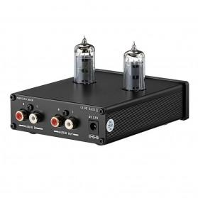 Aiyima Preamplifier Mini HiFi Stereo Preamp 2x6K4 Tubes - B2D1551F - Black