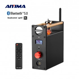Aiyima T8 Preamplifier HiFi Stereo Preamp OPA1656 6N3 Tubes - B2D2518 - Black