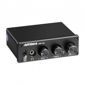 Aiyima DAC A2 Converter Headphone Amplifier NE5532 - B2D1768B - Black