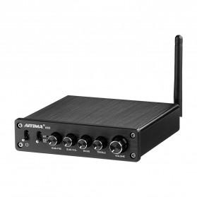 Aiyima A03 Bluetooth 5.0 Amplifier 2.1 Channel Amp Receiver 2x50W+100W TPA3116 - B2D1845B - Black