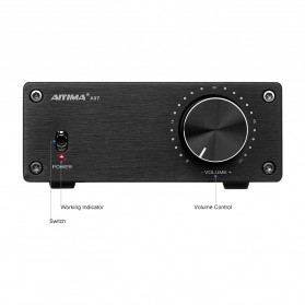 Aiyima A07 Digital Power Amplifier Hi-Fi Class D 2x300W TPA3255 - B2D1995 - Black - 3