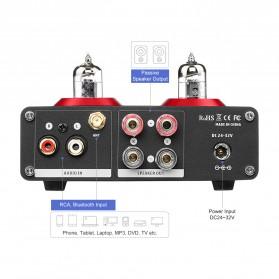 Aiyima T4 Bluetooth Amplifier Stereo 2x100W TPA3221 2x6J1 Vacuum Tube - B2D2530 - Black - 3