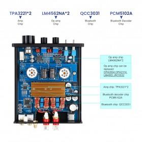 Aiyima T4 Bluetooth Amplifier Stereo 2x100W TPA3221 2x6J1 Vacuum Tube - B2D2530 - Black - 4
