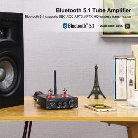 Aiyima T4 Bluetooth Amplifier Stereo 2x100W TPA3221 2x6J1 Vacuum Tube - B2D2530 - Black - 5