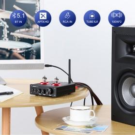 Aiyima T4 Bluetooth Amplifier Stereo 2x100W TPA3221 2x6J1 Vacuum Tube - B2D2530 - Black - 6