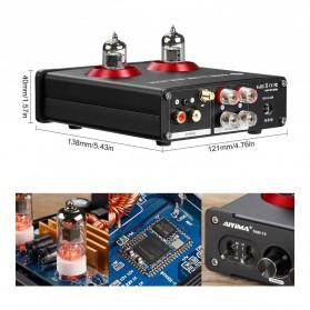Aiyima T4 Bluetooth Amplifier Stereo 2x100W TPA3221 2x6J1 Vacuum Tube - B2D2530 - Black - 7