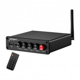Aiyima B01 Bluetooth 5.0 Amplifier 2.1 Channel 2x50W+100W TPA3116D2 - B2D2276 - Black