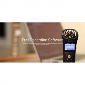 Zoom Perekam Suara Digital Handy Voice Recorder - H1N - Black - 8
