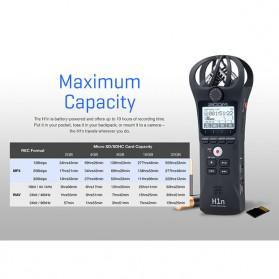 Zoom Perekam Suara Digital Handy Voice Recorder - H1N - Black - 10