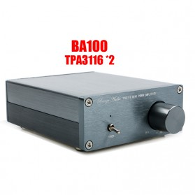 Breeze Audio Class D Amplifier TPA3116 2 x 100W - BA100 - Silver
