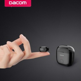 Dacom K6P Mono Earphone Bluetooth with Charger Case - Black - 2