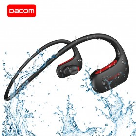 Dacom L05 Armor Sport Bluetooth Earphone Waterproof IPX7 dengan Mic - Black/Red
