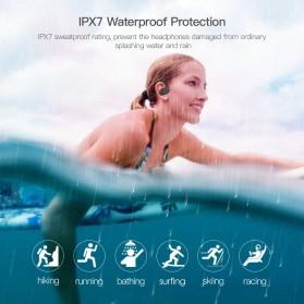 Dacom L05 Armor Sport Bluetooth Earphone Waterproof IPX7 dengan Mic - Black/Red - 4