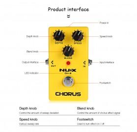 NUX Pedal Efek Gitar True Bypass - CH-3 - Yellow - 6