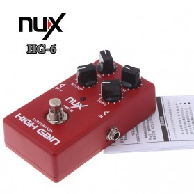 NUX Pedal Efek Gitar True Bypass - HG-6 - Red - 4