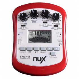NUX Pedal Efek Gitar Portable Pre-Amp 6 Modulation - PG-2 - Red