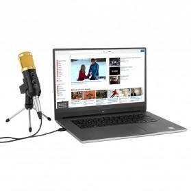 TaffSTUDIO BM-900 Professional Condenser Microphone Built-in Sound Card with Mini Tripod - Black - 3