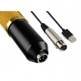 TaffSTUDIO BM-900 Professional Condenser Microphone Built-in Sound Card with Mini Tripod - Black - 7