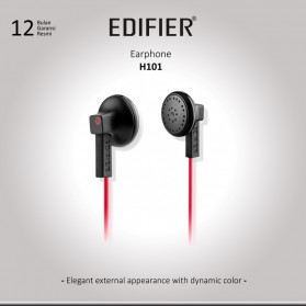 EDIFIER Earphone Headset High Quality Sound - H101 - Black/Red