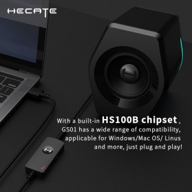 Edifier HACATE USB Sound Card External Audio Microphone 3.5mm - GS01 - Black - 4