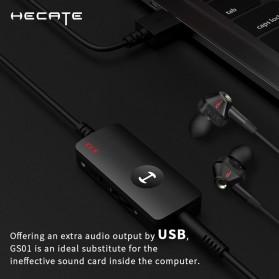 Edifier HACATE USB Sound Card External Audio Microphone 3.5mm - GS01 - Black - 6