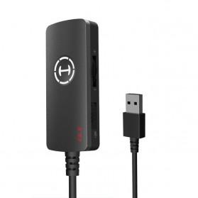 Laptop / Notebook - Edifier HACATE USB Sound Card External 7.1 Channel Audio Microphone 3.5mm - GS02 - Black