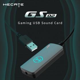 Edifier HACATE USB Sound Card External 7.1 Channel Audio Microphone 3.5mm - GS02 - Black - 2