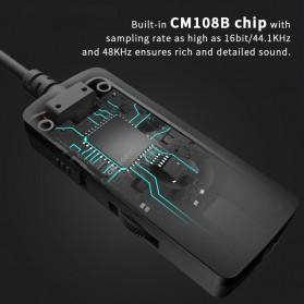 Edifier HACATE USB Sound Card External 7.1 Channel Audio Microphone 3.5mm - GS02 - Black - 4
