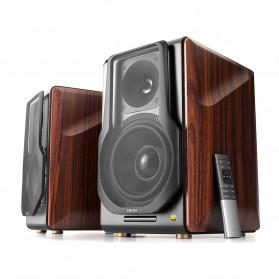 Edifier Active 2.0 Bluetooth Bookshelf Speaker Set - S3000 Pro - Brown