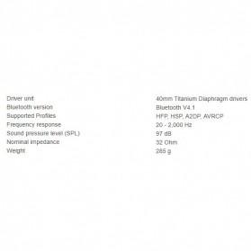 Edifier Bluetooth Headphone Headset Active Noise Cancelling - W860NB - Black - 7