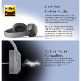 Edifier Bluetooth Headphone Headset Active Noise Cancelling - W820NB - Gray - 4