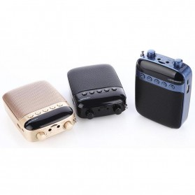 LENRUE Amplifier Penguat Suara dengan USB TF Card FM Radio - H3 - Black