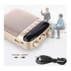 LENRUE Amplifier Penguat Suara dengan USB TF Card FM Radio - H3 - Black - 4